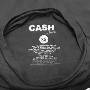 Cash Tops - Johnny Cash Licensed Graphic Band T-Shirt